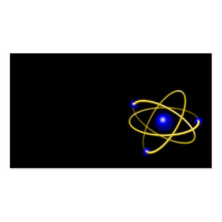 Atom atom , physics , particle , science , matter Double-Sided standard business cards (Pack of 100)