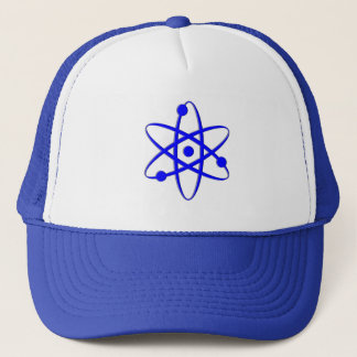 atom blue trucker hat