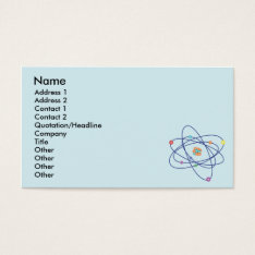 Atom - Business Business Card at Zazzle