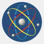 Atom (color) classic round sticker