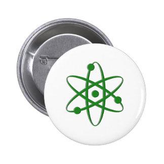 atom dark green 2 inch round button