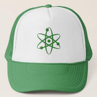 atom dark green trucker hat