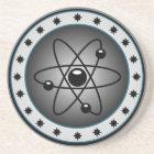 atom diagram coaster