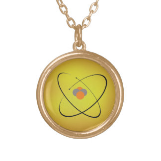 Atom Gold Plated Necklace