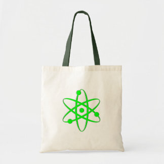 atom light green tote bag