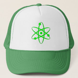 atom light green trucker hat