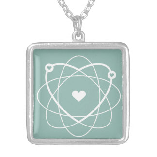Atom Love. Wedding Edition. Collection Atom Love. Square Pendant Necklace