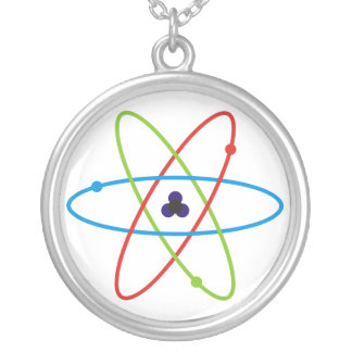 Atom Round Pendant Necklace