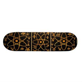 ATOM NUCLEAS n CHINESE CHARACTORS Skateboard Deck