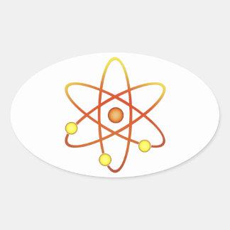Atom Oval Sticker