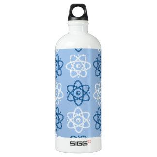 Atom Pattern Aluminum Water Bottle