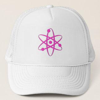 atom pink trucker hat