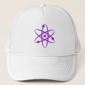 atom purple trucker hat