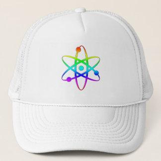 atom rainbow trucker hat