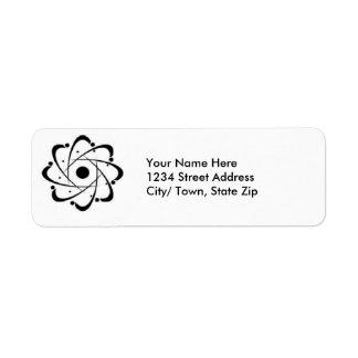 atom return address label
