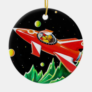 ATOM ROCKET CERAMIC ORNAMENT