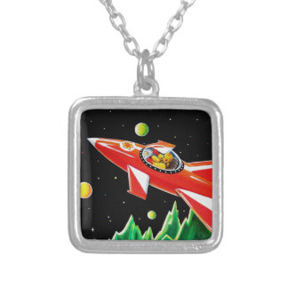 ATOM ROCKET SILVER PLATED NECKLACE