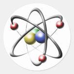 Atom Round Sticker