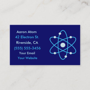 Proton business cards zazzle atom science business cards reheart Choice Image