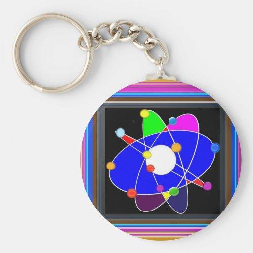 ATOM science explore study research NVN632 SCHOOL Keychain