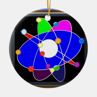 ATOM science explore study research SCHOOL Ceramic Ornament