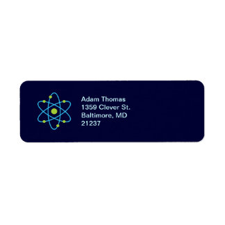 Atom Science Return Address Labels