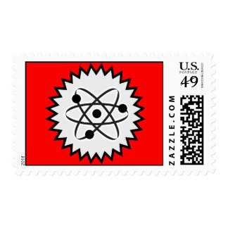 ATOM SCIENCE NUCLEAR LIFE CELL GRAPHICS LOGO ICON POSTAGE