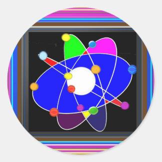 Atom Science School Research Development NVN658 RN Classic Round Sticker