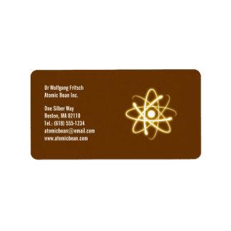 Atom - Scientist Label