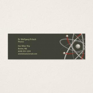 Atom   Scientist Mini Business Card