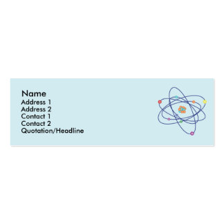 Atom - Skinny Double-Sided Mini Business Cards (Pack Of 20)