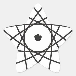 Atom Star Sticker