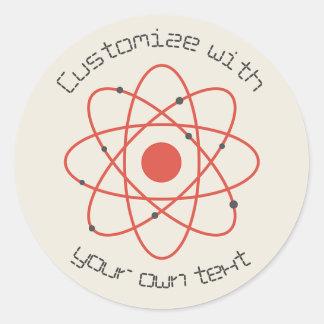 Atom Structure Classic Round Sticker