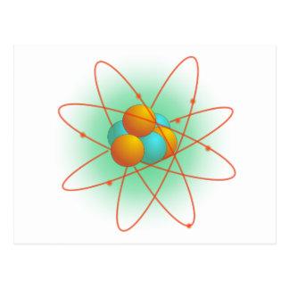 Atom Structure Postcard