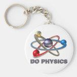 Atom symbol basic round button keychain