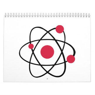 Atom symbol wall calendars