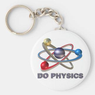 Atom symbol keychain