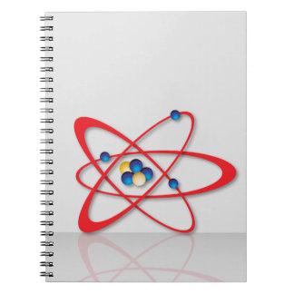 Atom symbol notebook