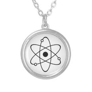 Atom Symbol Silver Plated Necklace