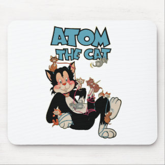 Atom the Cat funny fuzzy feline superhero Mouse Pad