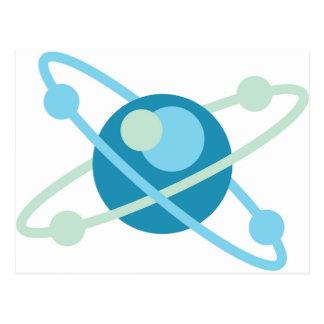 Atom vector logo postcard