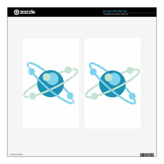 Atom vector logo skin for kindle fire