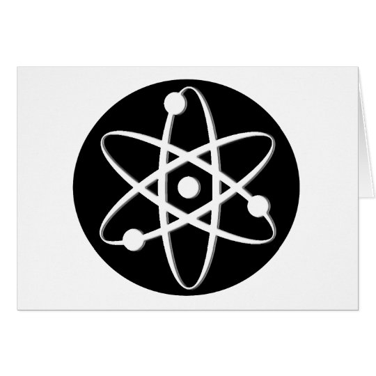 atom white card
