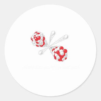 atom white classic round sticker