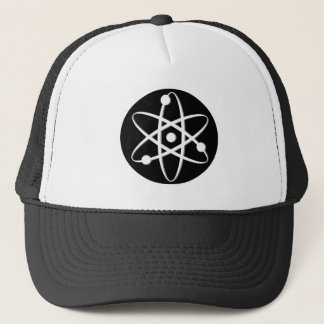 atom white trucker hat