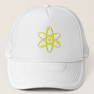 atom yellow trucker hat