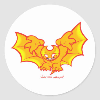 atombat atomises red outline Sticker 2