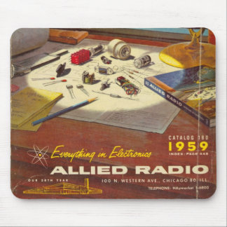 Atomic Age Vintage Radio Mousepad