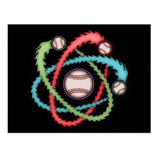 Atomic Baseball Postcard