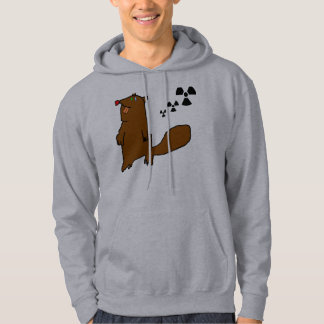 Atomic Beaver Black Danger Hooded Pullover